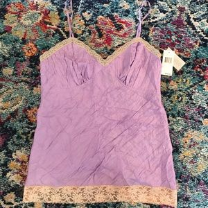 🆕 DKNY Jeans Lilac Lace Camisole